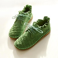 New pure handmade shoes, the retro art mori girl Flats shoes, fashion casual shoes,Vintage sweet leather shoes, 3 color