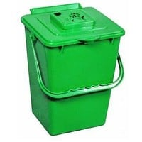 2.4 Gallon Kitchen Composter Compost Waste Collector Bin - Green