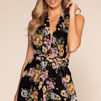 Garden Of Eden Romper - Black