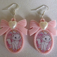 Aristocats Marie Inspired Cameo Earrings