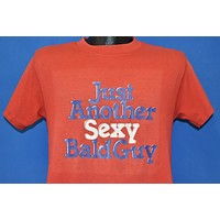 80s Just Another Sexy Bald Guy Funny Red t-shirt Medium