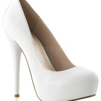 Fabulicious Gorgeous White Patent Leather Heels