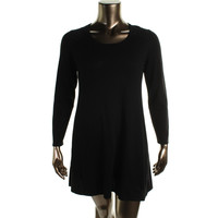 Style & Co. Womens Plus Knit Lace Trim Sweaterdress