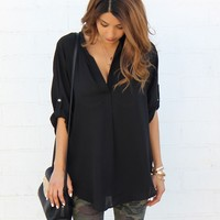 SHEER BUTTONLESS BLOUSE