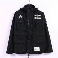 Men Training Jacket Patchwork Windbreaker [9070636611]