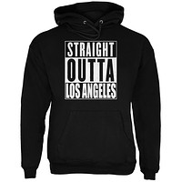 Straight Outta Los Angeles Black Adult Hoodie