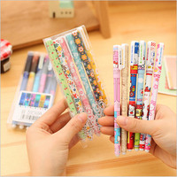 6 PCS pack Hot Sale Stationery Store 0.38mm Colored Gel Pens Cute Korean School Office Supplies Kawaii Floral Sign Pens