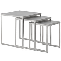Rail Stainless Steel Nesting Table Silver