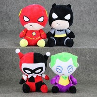 Batman Dark Knight gift Christmas 20cm 4Styles America Plush Toys The Flash Batman Harley Quinn The Joker Soft Stuffed Dolls AT_71_6