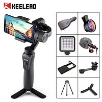 KEELEAD 3 Axis Handheld Gimbal Stabilizer w/Focus Pull & Zoom for iPhone Xs Max Xr X 8 Plus 7 6 SE Samsung Action Camera|Handheld Gimbals| |  - AliExpress