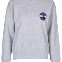 Nasa Distressed Sweater by Tee & Cake - Topshop