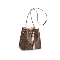 SAVITSKYI Very Female Chic Beautiful Purse NeoNoe Style Bag for Girls and Women Feminine Useful Accessory With Shoulder Elbow Strap Monogram Goodly Color with Rose Ballerina Interior Pretty Handbag