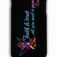 iPhone 6 Plus Case - Rubber (TPU) Cover with Tinkerbell Quote Faith Trust Pixie Dust Rubber Case Design