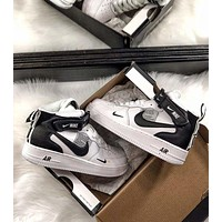 Nike Air Force 1 '07 New Fashion Leisure High-Top Sneakers Women Men Shoes White