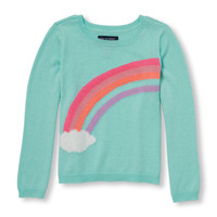Toddler Girls Long Sleeve Graphic Sweater | The Children's Place