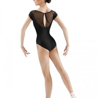 Mirella Mesh Boat Neck Leotard