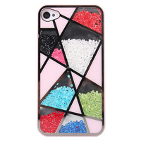 Colourful Cute Sliding Polygon Hard Cover Case For Iphone 4/4s