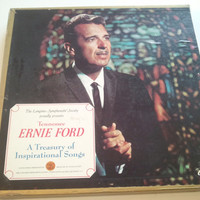 Tennessee Ernie Ford, A Treasury of Inspirational Songs, LP Record Album Boxed Set
