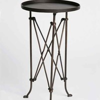 Metal Accordion Side Table-