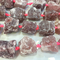 strawberry quartz raw nugget stone - natural pink quartz large gemstone  nuggets - rough quartz stone for jewelry making -15inch