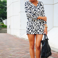 Printed With Passion Dress: Black/Ivory
