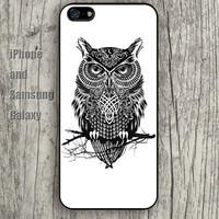 owl on a tree branch iphone 6 6 plus iPhone 5 5S 5C case Samsung S3,S4,S5 case Ipod Silicone plastic Phone cover Waterproof