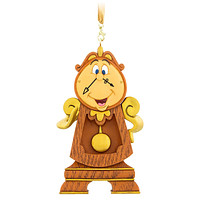 Disney Parks Beauty and the Beast Cogsworth Clock Christmas Ornament New w Tag