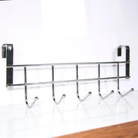 Practical New Five Hooks Home Bathroom Kitchen Hat Towel Hanger Over Door Hanging Rack Holder