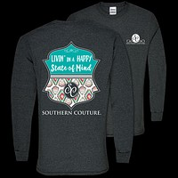 Southern Couture Preppy Happy State of Mind Long Sleeve T-Shirt
