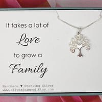Mother's day gift for mom, gift for grandma, Family tree of life necklace, sterling silver, grandmother necklace, infinity tree