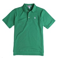 Solid Classic Polo in Kelly Green by Boast