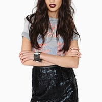 Nasty Gal Collection Oil Slick Skirt