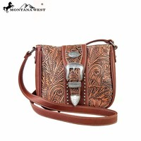 Montana West MW171-8295 Buckle Messenger Bag