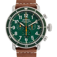 Shinola - The Runwell 47mm Stainless Steel and Leather Watch