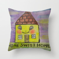 home sweet home Throw Pillow by helendeer