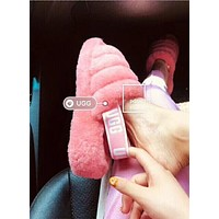 """""""UGG"""" Winter High Quality Winter Classic Popular Women Cute Fluff Yeah Slippers Shoes Rose Red I/A"""