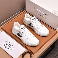 prada men fashion boots fashionable casual leather breathable sneakers running shoes 213