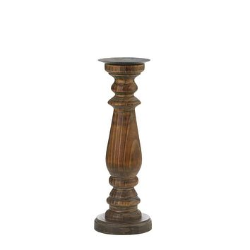 Candle Decoration Tall Antique Style Wooden Candleholder