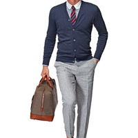 Blue Cardigan Sw385 | Suitsupply Online Store