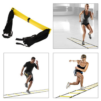 New Durable 9 rung 16.5 Feet 5M Agility Ladder for Soccer and Football Speed Training With Carry Bag Fitness Equipment EA14