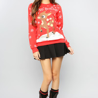 Rudolph Christmas Graphic Sweatshirt
