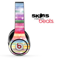 Rainbow Abstract Skin for the Beats by Dre Studio, Solo, MIXR, Pro or Wireless Version Headphones