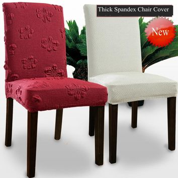 ROMANZO Thick Fabric Colorful Universal Spandex Chair Cover Dining Chair Office Computer Coverture Chaise Curbresillas