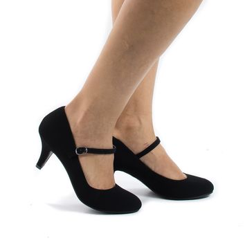 Kirk Black By Classified, Round Toe Mary Jane Extra Padded Insole Comfort Pumps