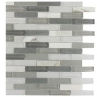 Splashback Tile, Cleveland Severn Mini Brick Mixed Materials Floor and Wall Tile - 6 in. x 6 in. Tile Sample, L1A7 MOSAIC TILE at The Home Depot - Mobile