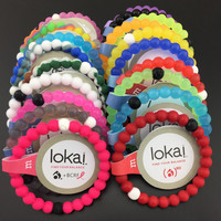 Free Shipping Top quality Infinity silicone bracelets neon shark lokai  bracelets find your balance for Unisex Jewelry