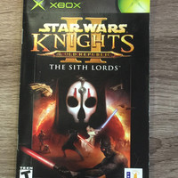 Original Instruction Manual - Star Wars Knights of the Old Republic II: The Sith Lords - Original Xbox (Pre-owned)