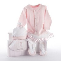 Baby Ballerina - Two-Piece Pink Layette Set - Whimsical & Unique Gift Ideas for the Coolest Gift Givers