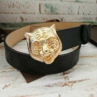 G Men Fashion Smooth Buckle Belt Leather Belt