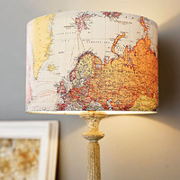 handmade vintage map lampshade by rosie's vintage lampshades | notonthehighstreet.com